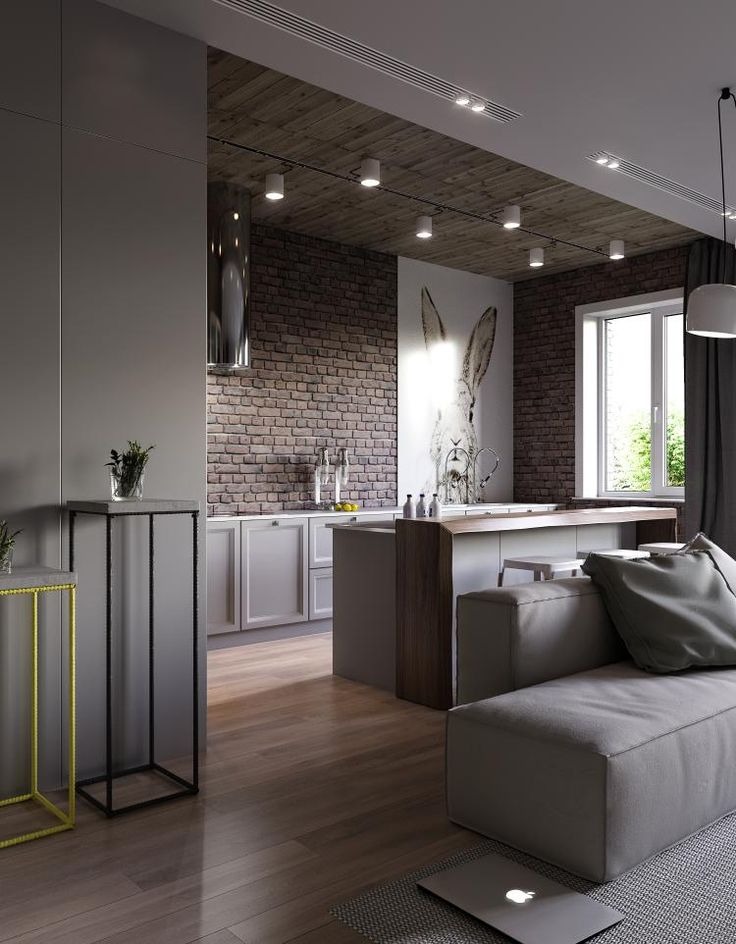 Эта стильная квартира в Киеве, Украина, выполнена дизайнерами студии Artpartner. Общая площадь трехкомнатной квартиры составляет 115,6 квадратных метров. Пространство выполнено в композиции стиля лофт и современного стиля. Обожженный красный кирпич идеально сочетается с белоснежными и серыми стенами и мебелью. Прямые лаконичные линии придают квартире легкость и простоту, одновременно подчеркивая элегантность и комфортабельность помещения. Кухня, столовая и гостиная находятся в одном большом…