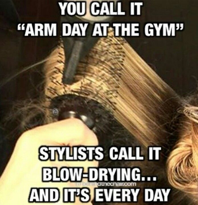 Blow drying muscles Hairdresser 104 best