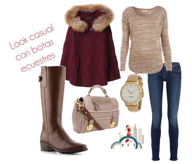 Look casual con botas ecuestres // Casual look with riding boots