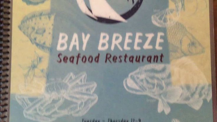 Bay Breeze Menu Design by Jay Montgomery