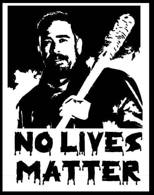 The Walking Dead Negan Decal Vinyl Car Decal Custom Funny No lives matter by CassidysCreationsTx on Etsy