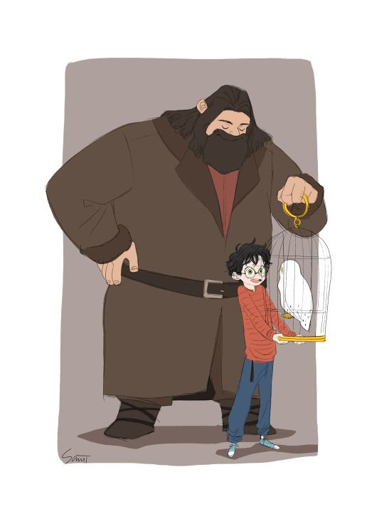 Harry and Hagrid - Birthday present received the very first time by SANJI SEO