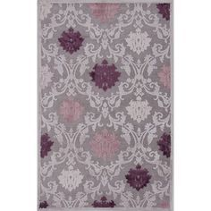 @Overstock.com - Transitional Pink/ Purple Viscose/ Chenille Rug (2' x 3') - You'll fall fast and hard for the charms of this purple chenille rug. This rug features a pretty purple and pink color palette in a toile design, and it is made from a soft chenille/polyester blend that is soft and luxurious to your tootsies. http://www.overstock.com/Home-Garden/Transitional-Pink-Purple-Viscose-Chenille-Rug-2-x-3/7544009/product.html?CID=214117 $26.65