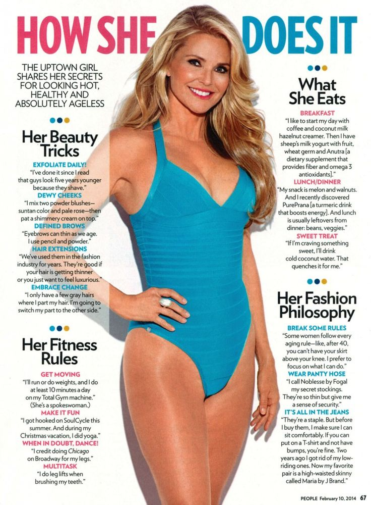 I truly believe beauty comes from the inside, but have to admit Christy Brinkley has it on the outside too. This is her #1 secret (below image). She's gorgeous for any age, but that the fact she is 61 years old should inspire any man or woman who might fear hitting 60. Check out a …