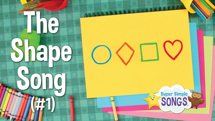 The Shape Song #1 (2D Shapes)   Super Simple Songs