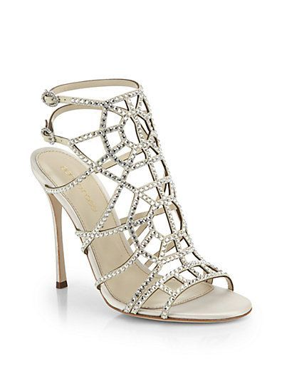 02d00c1f4c91 Love these shoes by SERGIO ROSSI Puzzle Swarovski Crystal Sandals -  1710