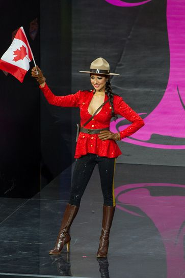 Miss Universe 2013 National Costumes - Miss Canada, of course (a sexy mountie?)