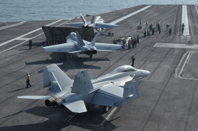 I Spent 24 Hours On Board A US Navy Aircraft Carrier At Sea