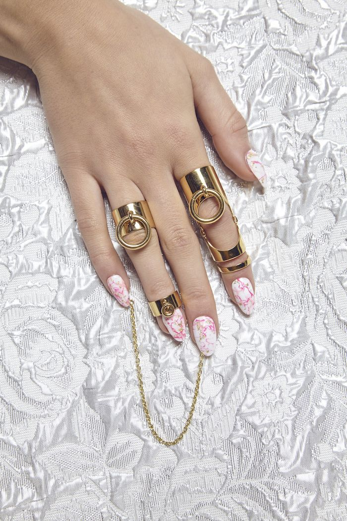 Maria Francesca Pepe SS17 'BEVERLY HILLS DOLLS' BAND RING AND MIDI RING