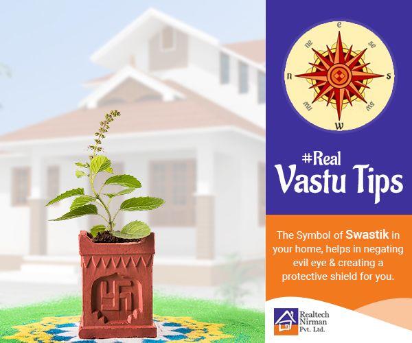 #RealVastuTips : Swastik is also considered as ॐ  written in the ancient Brahmi script.