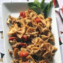 Roasted Balsamic Vegetable Pasta with Mint & Yogurt — Punchfork
