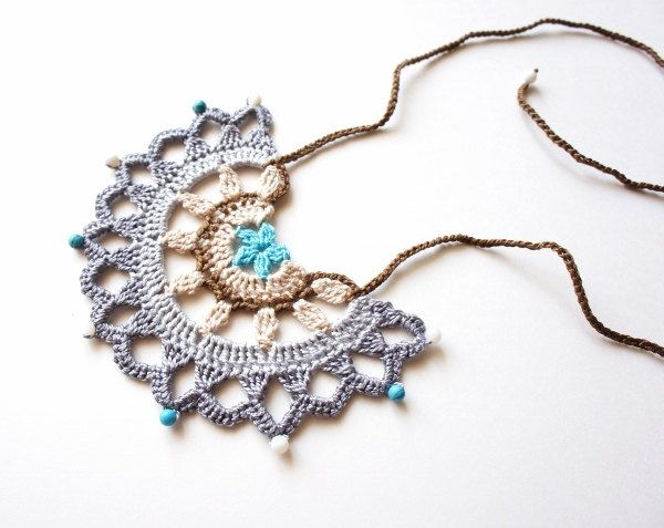 Tribal Crochet Necklace - Crochet Pattern by JaKiGu