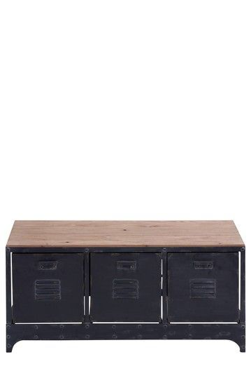 Industrial locker-style console table | {Home} Furniture