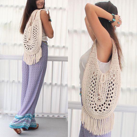 Crochet bag pattern-REVERSIBLE bag-CONVERTIBLE bag- 2for1/2in1 bag ...