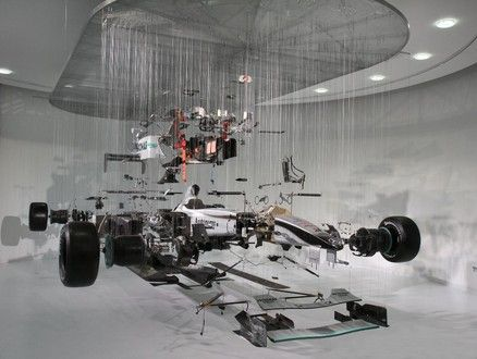 Mercedes GP Petronas unveiled the View Suspended II, a deconstructed art form of their Formula 1 car, at Mercedes-Benz World in Surrey so everybody can go and take a look at this awesome mechanical art.
