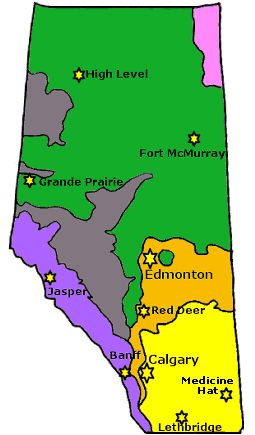 Map Of Canada Grade 6.Interactive Natural Regions Of Alberta Projects To Try Social