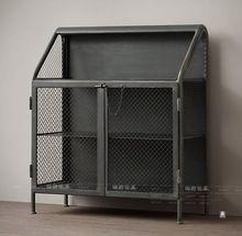 Американский кантри , чтобы сделать старый кованая мебель стиле ретро чердак металлические стеллажи книжный шкаф книжный шкаф буфет(China (Mainland))