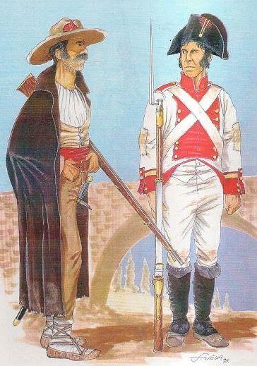 Volontario della milizia di Ciudad Rodrigo  e caporale dei fucilieri della milizia di Segovia