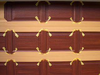 Garage Door Tutorial  faux wood