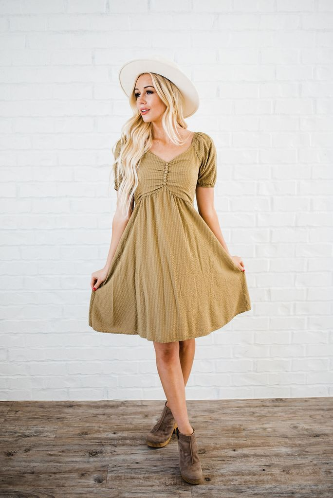 2047ca0b169 Kilee Dress in Sage – Saving Paige Boutique. Find this Pin and more on For the  Wardrobe ...