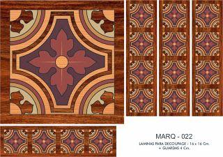 FOLHAS DE DECOUPAGE DECOPAPER: folhas de marchetaria FALSOS 16x16 CM. + GUARD (2)
