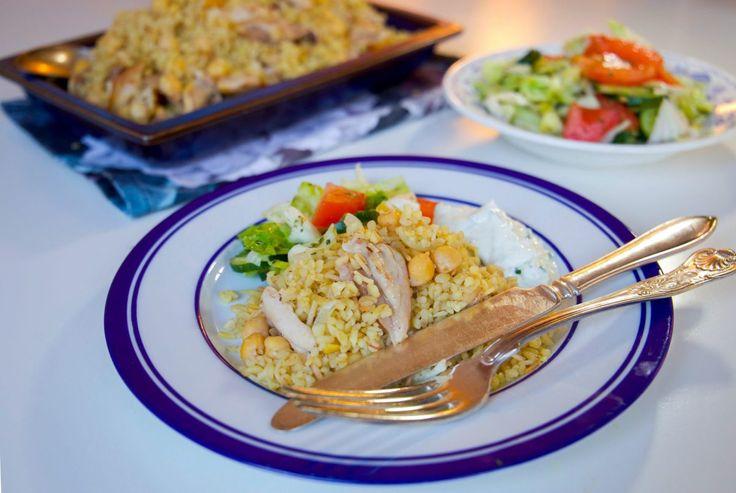Libanesisk bulgurpilaff med kyckling