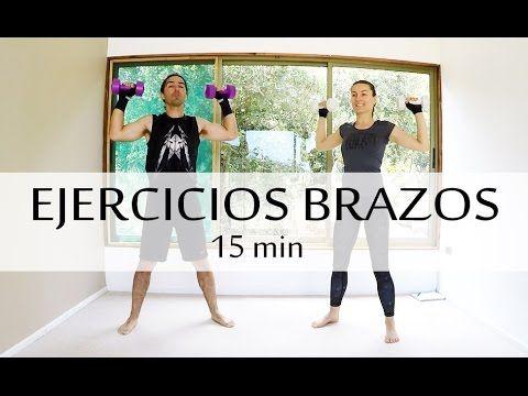 Ejercicios para adelgazar los brazos y espalda | 15 min con Elena Malova - YouTube
