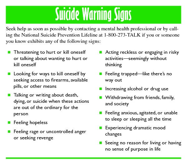 causes of suicide Do you know all the leading causes of death in the united states the fourth cause in our list may surprise you.