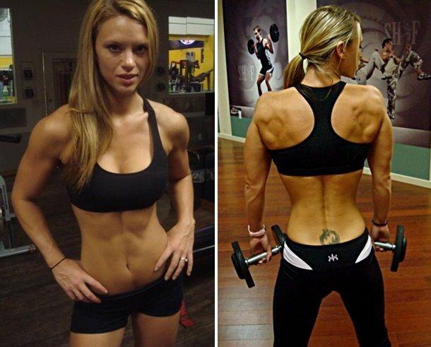 Tabitha Klausen-Leandri sample workout/eating plan. This woman is my IDOL.