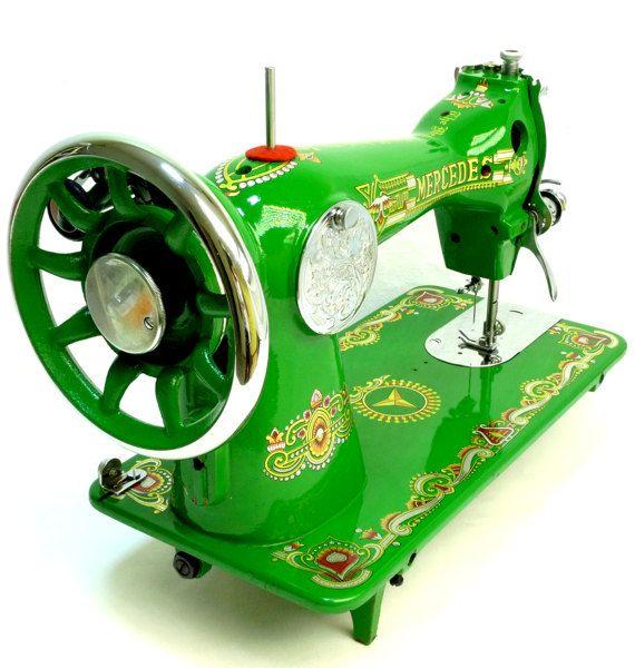 mercedes ha 1 sewing machine vintage singer class 15. Black Bedroom Furniture Sets. Home Design Ideas