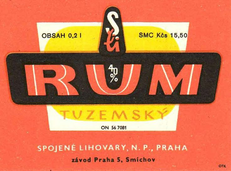 "When they were still allowed to call it ""rum""! Now it is called ""Tuzemak"". Still better than the ""real"" stuff!"