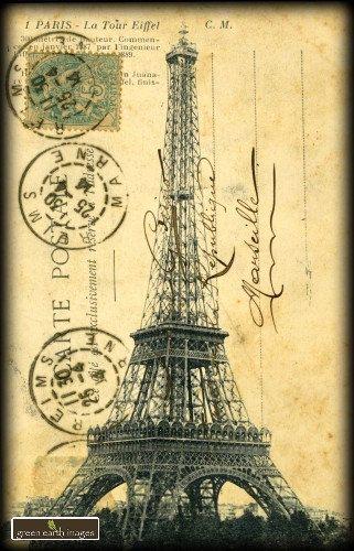 .tour Eiffel-Paris-carte ancienne