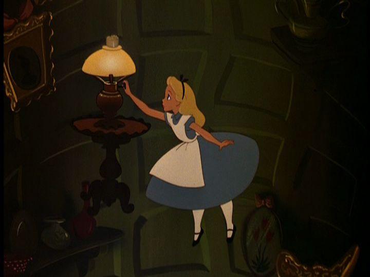 Disney alice in wonderland falling