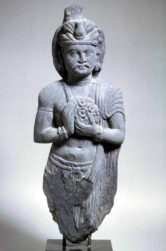 3rd-4th century, Pakistan, Gandhara culture, devotee, grey schist, at the San Francisco Museum of Art