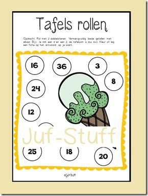 Juf-Stuff Tafels rollen zomer-editie