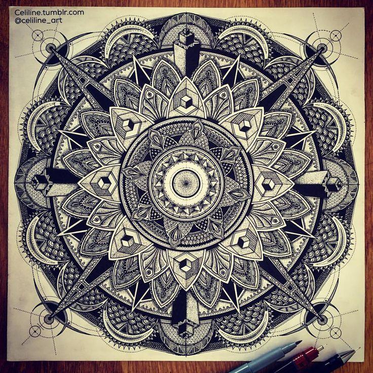 French artwork - Handmade zentangles, doodles, drawings, illustrations. @celiline_art on Instagram...