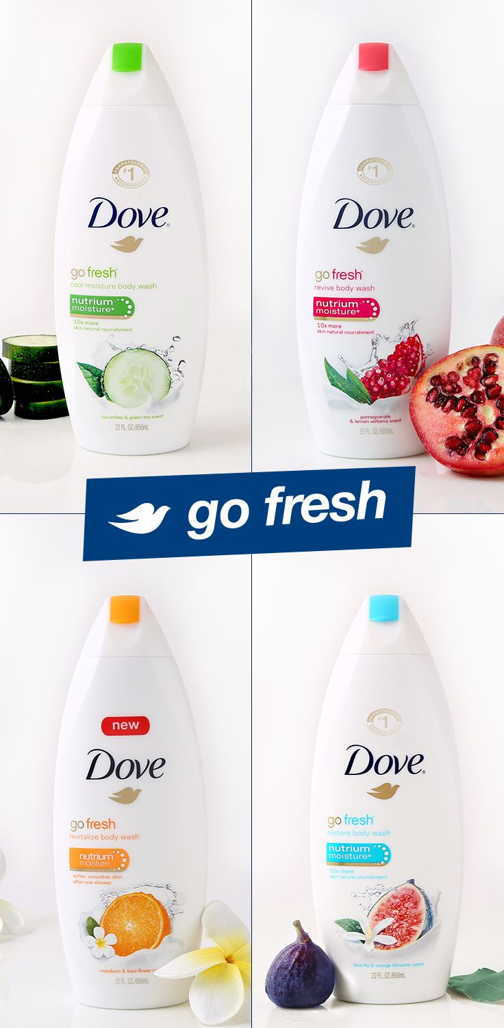 Dove go fresh Body Wash is a springtime beauty product essential. Each contains NutriumMoisture, which effectively nourishes skin, while still providing a refreshing burst of fragrance. Revive your shower time and try one of these scents today!