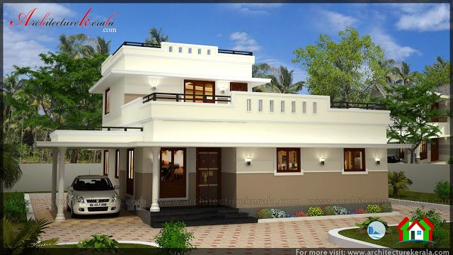Low Cost 3 Bedroom Kerala House Plan With Elevation Kerala House