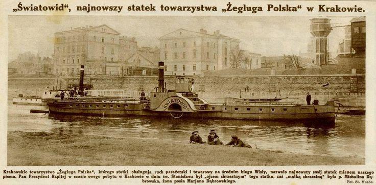 Rzeka Wisła (Kraków), Kraków - 1925 rok, stare zdjęcia