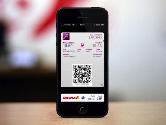 Los billetes de Renfe ya son compatibles con Passbook