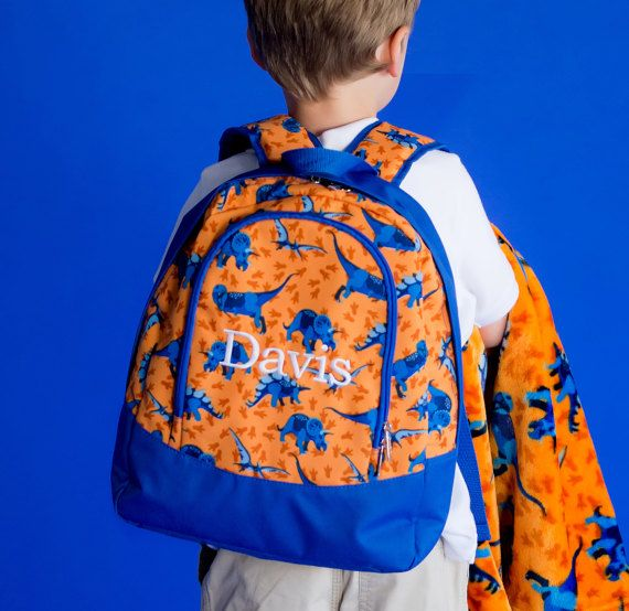 Dino-Mite Monogrammed Backpack ~ Monogrammed Toddler Bag ~ Monogram Toddler Backpack ~ Monogrammed Boys Backpack ~ Personalized Backpack