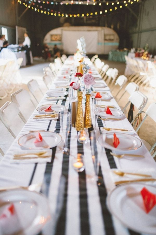 34 best wedding day color inspiration wedding paint colors a fun diy wedding with chic stripes and splashes of colour junglespirit Images