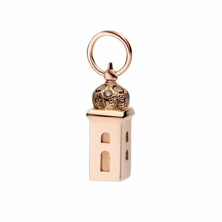 Oro rosa 9k e brillanti tower rose gold diamond shine briliant civita queriot