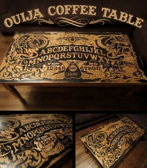 Ouija Board Coffee Table #horror #paranormal #occult
