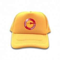 YellowPopular Trucker Hat NBA Houston Rockets Logo 2016 100% cotton Sun cap for mens womens