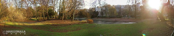 Winter Lake Kissed by The Sun - #Stadspark | #Antwerp
