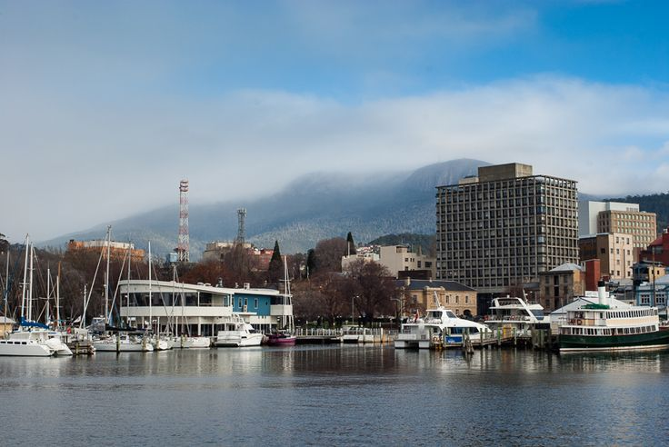 The Hobart waterfront with the old Brooke Street pier