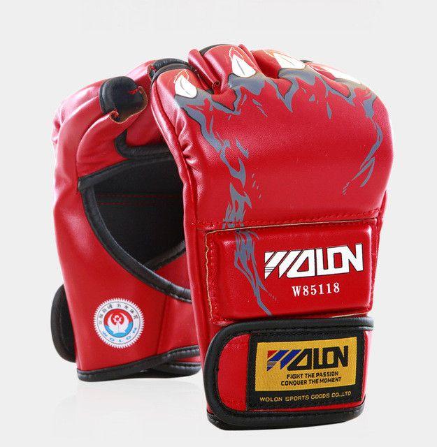 Gants de boxe homme Sanda MMA Gloves Half-finger Sandbag Fighting Boxing Gloves Extension wrist leather Free shipping