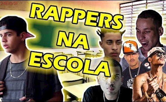 RAPPERS NA ESCOLA (RACIONAIS,1KILO,DEXTER,CLASS A, HUNGRIA, PROJOTA, CHOICE)