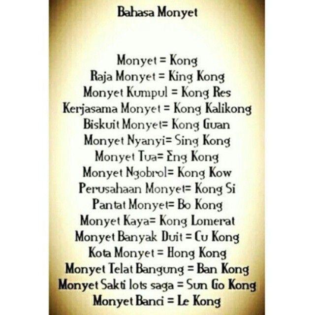 bahasa monyet :))